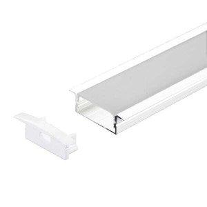 Perfil Embutir Alumínio 30.5x9.3mm 2 Metros Para Fita LED