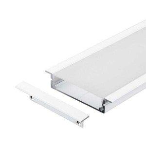 Perfil Embutir Alumínio 66x13mm 2 Metros Para Fita LED