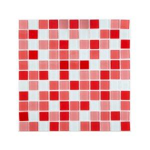 Pastilha Vidro Lisa Mia Mosaic 2m² Mix Vermelho