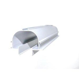 Perfil Linear Embutir NO FRAME P/2 Fita de LED Barra de 2 Metros Sem Fita de LED-Cinza Fosco