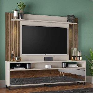 Painel Home Notável NT 1080 Com Espelho Para TV de 55 Polegadas