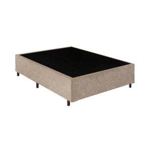 Base Box Casal Santo Box Suede Bege 40x138x188