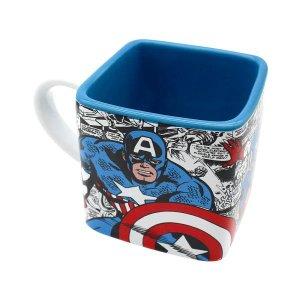 Caneca Cubo 300ML Capitão América Heróis