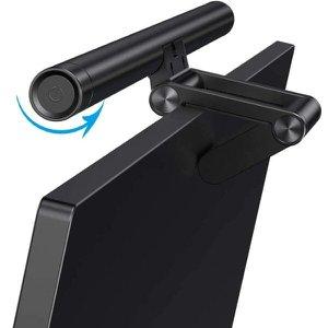 Barra de Luz LED Monitor Tela Computador Notebook Lâmpada Luminária Iluminação Brilho Ajustá - Preto