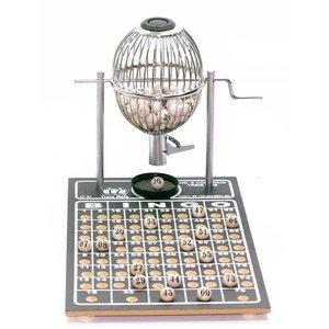 Jogo De Bingo Cromado Nº 1 Com 75 Pedras - 300 Cartelas