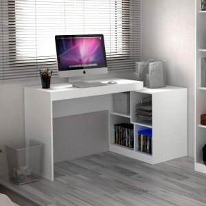 Escrivaninha Multifuncional 2 em 1 com 4 Nichos HO-2904 Home Office Hecol Móveis