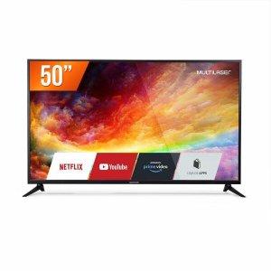 Smart Tv 50 Polegadas Led 4k Wifi Integrado Conversor Digital 3 Hdmi 2 Usb Tl019 Multilaser