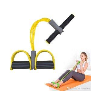 Elastico Extensor 4 tubos Academia Casa abdominal cordas Pilates Tonificação exercicio