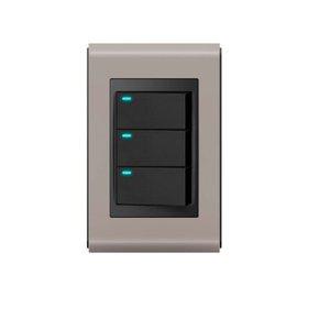 Conjunto 3 Interruptores LED - Refinatto - Argila Acetinado / Preto