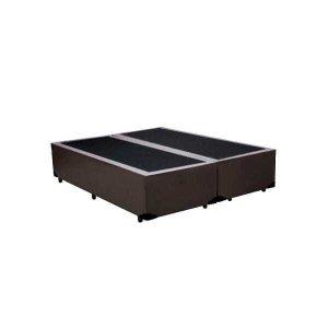 Base Box King Bipartido Belos Sonhos Sintético Marrom 40x193x203