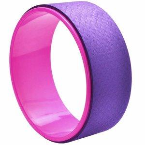 Roda Yoga Magic Wheel Anel Pilates Flow Circle Exercícios Roxo/Rosa