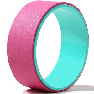 Roda Yoga Magic Wheel Anel Pilates Flow Circle Exercícios Rosa/Verde