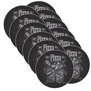 Sousplat Pizza Black - 12 Peças - Sem base