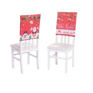 Kit 6 Capas para encosto de Cadeira Jantar decoração Natal
