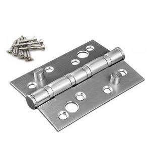 kit 3 Dobradiças De Inox Com 2 Pinos De Segurança Sistema Anti Arrombamento 4x3'