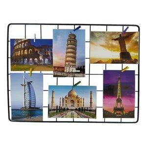 Memory Board Painel Fotos Aramado 30x40+ Brinde 5 Pregadores