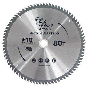 Lâmina de Serra 250mm Disco 80 Dentes 10Pol Corte Madeira