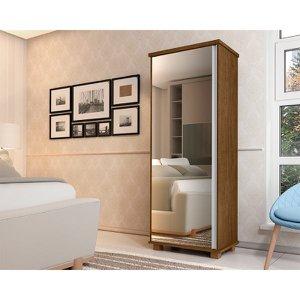 Armario Multiuso Londres 1 Porta Com Espelho Malbec