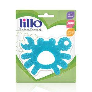 Mordedor Caranguejo Macio Lillo Infantil 8 texturas Massageador de Gengiva Azul