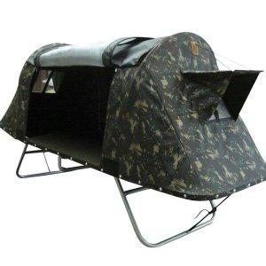Cama Tatu Casal Dobrável para Camping Fácil Montagem Camuflado
