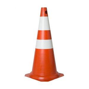 Cone em PVC 75cm Laranja e Branco
