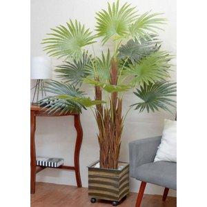 Palmeira Leque Real Toque Verde 1,7m Planta Artificial