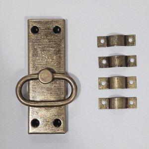 Kit 10 Borboleta + 10 Levantador + 12 Cremona Ouro velho.