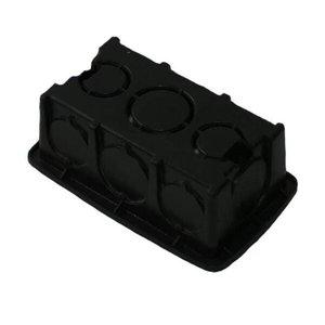 Kit 50 Caixa de Luz Plástica Retangular Preta 4x2 Reforçada