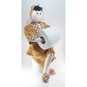 Boneca Porta Papel Higiênico - Empório do Peso e Decorações: Caramelo