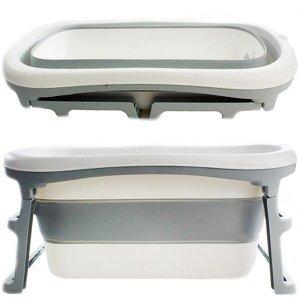 Banheira de Adulto e Bebê Luxo Dobrável com 180 Litros A Partir de 10 meses a 80kg Cinza - Kababy