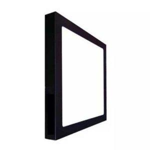 Plafon Sobrepor Quadrado 18w Preto 22,5cm - Branco Frio (6000K)