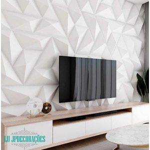 Placas 3d De Parede Revestimentos Decorativos Trapézio 10m²