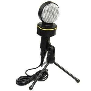 Microfone Com Fio Condensador Para Gravação em Estudio Pc P2 - MT1021