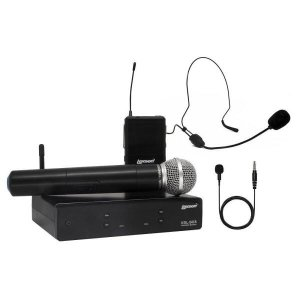 Kit Microfone Uhf Com 2 Canais De Frequencia Fixa Xsl 503