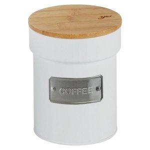 Lata Porta Condimento Matte Coffee Branco