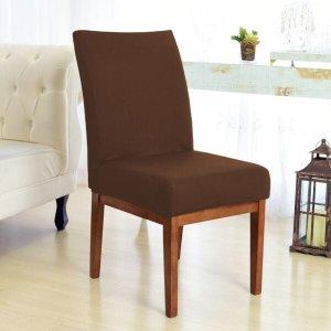 Capa Para Cadeira Sala de Jantar Marrom