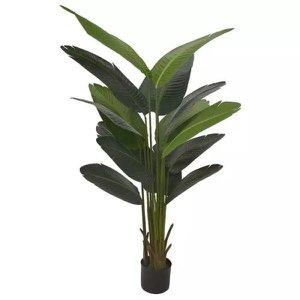 Bananeira de Jardim Verde 1,7m Árvore Artificial com pote