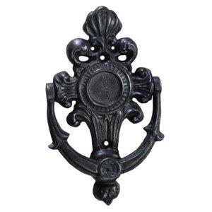 Aldrava Colonial Em Bronze Oxidado Decorações Batente Porta