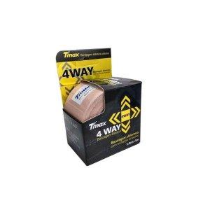 Bandagem Dinâmica Elástica Adesiva 4Way com Múltiplas Direções 5m X 5cm Bege - Tmax