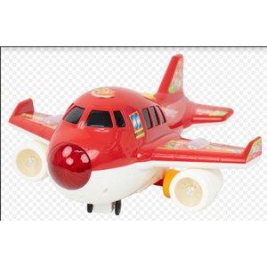 Avião de Brinquedo Infantil Com Luzes e Som Realista vermelho BBR R2913
