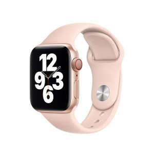 Pulseira Silicone Applewatch:Pink Sand/42/44mm S/M