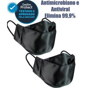 Kit 2 Máscaras De Proteção 3D Antiviral DelfimProtect® Preta
