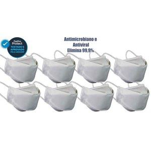 Kit 8 Máscaras De Proteção 3D Antiviral DelfimProtect® Branca