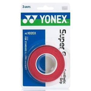Overgrip Yonex Super Grap Vermelho - 3 Unidades