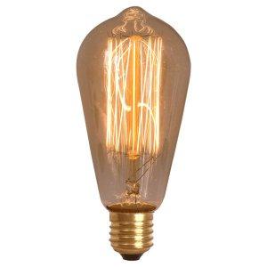 Lâmpada Retrô Decorativa Vintage Thomas Edison ST64:220V