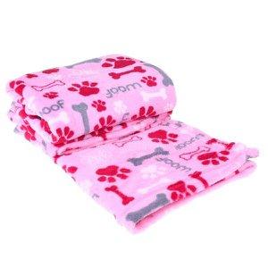 Manta Cobertor Em Microfibra Para Cachor 70Cm X 1,00M Rosa Pink - Meu Pet