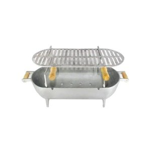 Churrasqueira Alumínio Fundido Completa 56 Cm - Prateado