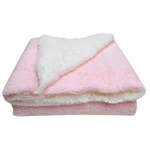 Cobertor Canino Raças Pequena Média E Grande Com Manta Rosa