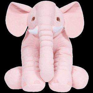 Almofada Elefante de Pelúcia 67cm Rosa
