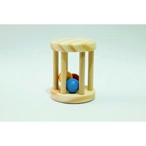 Chocalho para Bebê com Bolinhas Coloridas - Montessori